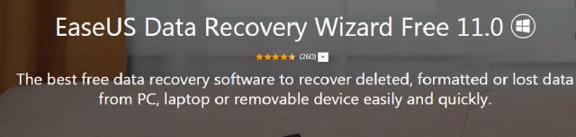 EaseUS Data Recovery Software Free Edition